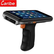 CARIBE PL-55L poignée PDA Android 8.1 scanner de codes à barres 1D Laser 2D QR Code Portable collecteur de données dispositif avec poignée