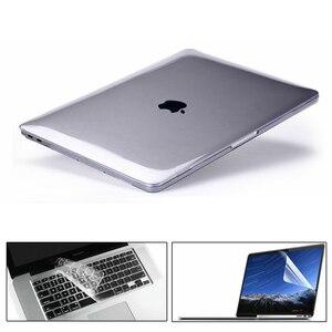 KK&LL For Apple MacBook Air Pro Retina 11 12 13 15-Crystal Hard Shell Laptop Protector case + Keyboard Cover + Screen Protector(China)