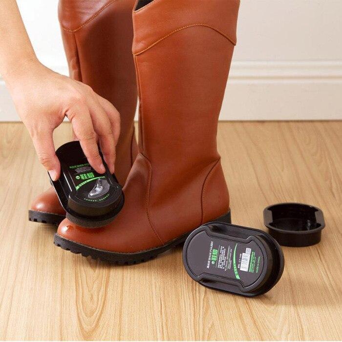 Двусторонний крем для обуви, светильник, бесцветная обувь, губка для ухода за обувью HYD88