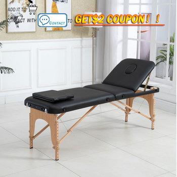 Spa stół składany stół do masażu stół do masażu fotel do masażu łóżko do masażu 3 krotnie stół do masażu składany stół tanie i dobre opinie CN (pochodzenie) Meble komercyjne 185*60cm Meble do salonu ALL-189 Skóra syntetyczna 3 Fold Massage 3-section massage table (with backrest)