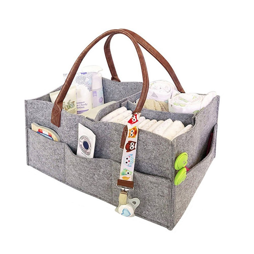 Portable Non-woven Cloth Mummy Bag Bladder Multi-functional Mummy Bag Diaper Stack Baby Stuff Collection Stroller