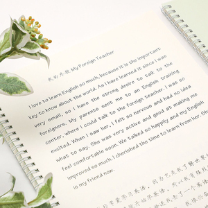 English handwritten Copybook Cursive Writing English Calligraphy Copybook For Adult Children Exercise Handwriting Practice Book