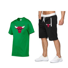 2021 Men's Summer Sports Suit Fashion Shorts Set Sleeve Casual Wear Workout Clothes Male Cropped Pants Set