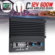 12V 600W Mono samochodowy wzmacniacz Audio potężny bas płyta wzmacniacza subwoofera odtwarzacz samochodowy moduł wzmacniacza 3D Crystal Power