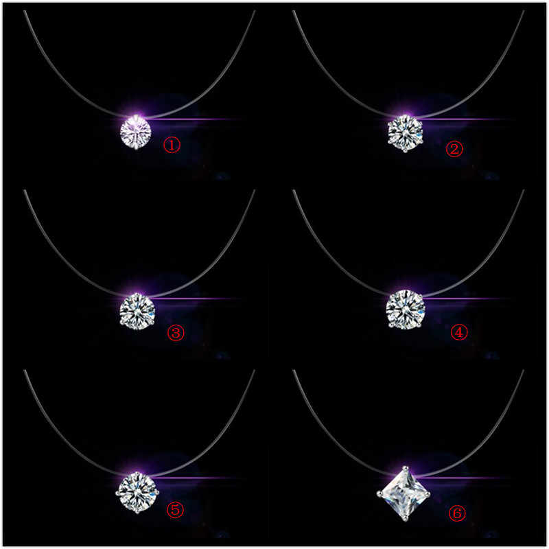 سعر الخصم 925 فضة المرأة سلسلة قصيرة للحزب مجوهرات واضح كريستال نمساوي قلادة قلادة هدية