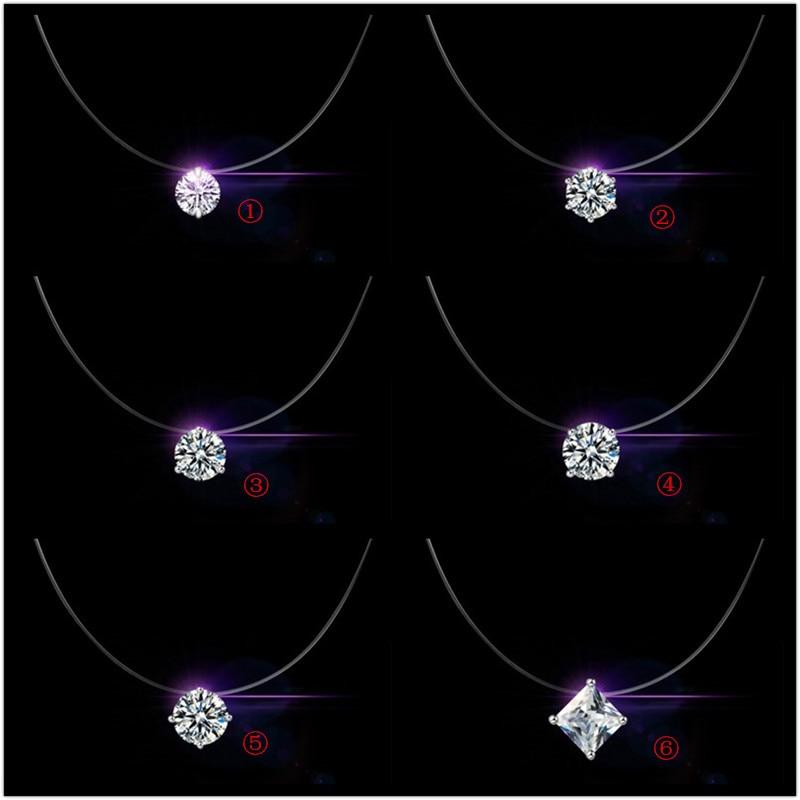 Chaîne courte en argent Sterling 925, bijoux de fête, pendentif en cristal autrichien transparent, collier, cadeau pour femmes, prix Discount