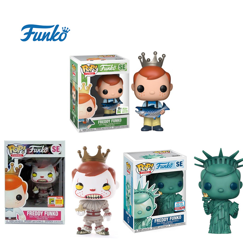 FUNKO POP 2019ECCC Freddy Funko SE Pennywise Statue Of Liberty Limited Edition Action Figures Model Toys