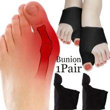 1 par sebs hallux valgus cintas toe ortopédico correção meias dedos separador pés cuidados com a dor proteger aliviar osso polegar manga