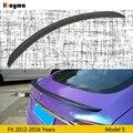 Матовый спойлер заднего багажника из углеродного волокна для Tesla Model S 60D 70 85 90 P100D 2012-2016 год Модель s спортивный стиль спойлер крыло