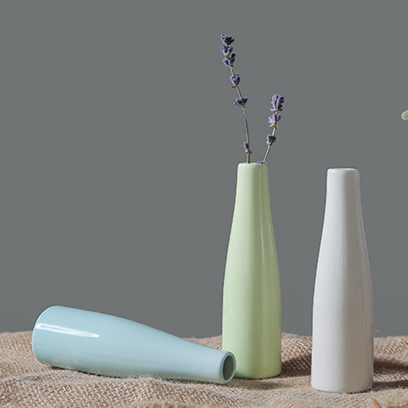 Simple Flower Hydroponic Small Flower Vase Creative Ceramic Vase Bottle Decoration