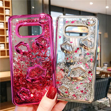 Lips Quicksand Case for Samsung S7 Edge S8 S9 S10 Plus Soft Silicone Love Cover For iPhone X XR XS MAX 7 8 6S Plus Case Capa zhiyun smooth 4 3 axis handheld gimbal stabilizer for smartphone iphone xs x 8p 8 7 6s se samsung s9 s8 s7 with charging cable