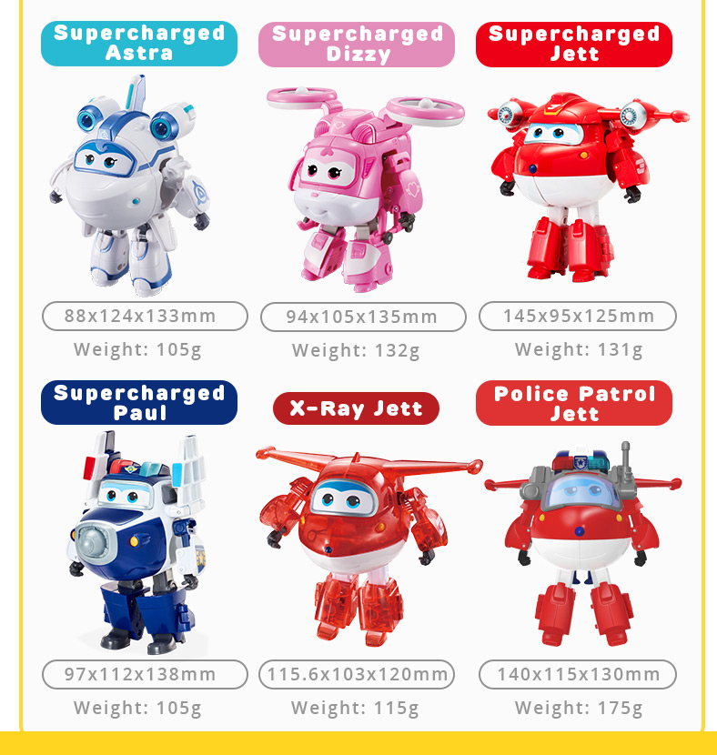 Super Wings Transforming 5 inch Airplane Robots 8