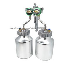 Spray-Gun Pneumatic-Sprayer Chrome-Painting Double-Nozzle Dual-Head High-Pressure-Mirror