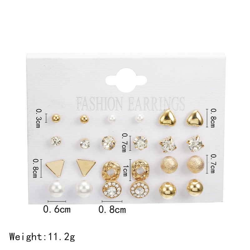 2019 Earrings Rushed Classic Women Pendie Earing Earings Jewelry Hot Style Fashion Suits 12 To Board Imitation Zircon Stud Peach in Stud Earrings from Jewelry Accessories