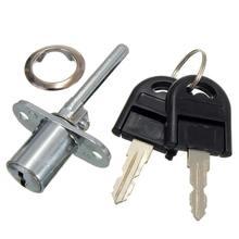 Liga de zinco armário de mesa do computador caixa de correio gaveta armário cam lock com chaves, prata