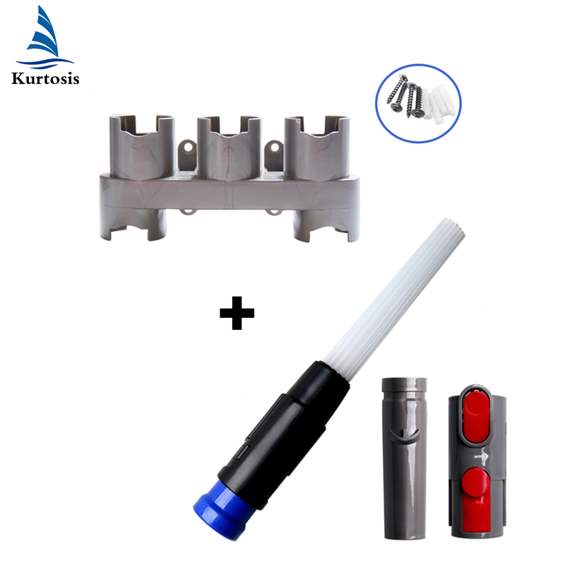 Storage Bracket Holder Cleaning Tool Attachment Brush Adaptor Set Replacement For Dyson V8 V10 V7 Vacuum Cleaner Accessories