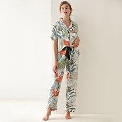 QWEEK – pyjama à pois pour femmes, ensemble de 2 pièces, nuisette imprimée, vêtements de maison, vêtements de salon