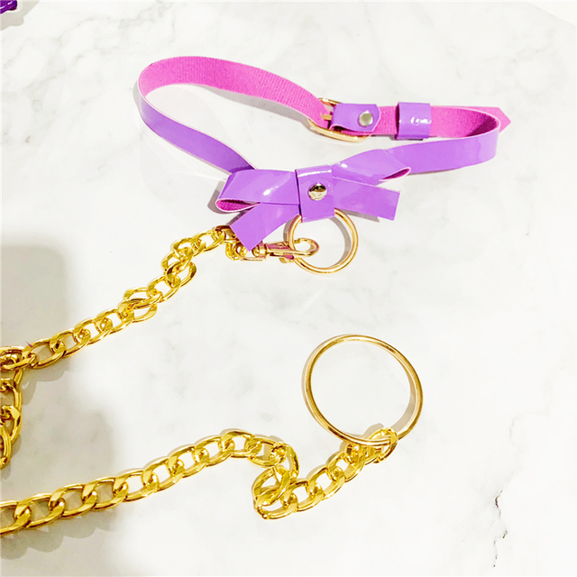 Cosplay Lolita Kawaii Handmade Sexy Harajuku Leather Elastic Garter Belts Waist Garters handcuffs Harness for Dress Costume BDSM 5