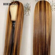 Destaque 4/27 perucas retas do cabelo humano da parte dianteira do laço com cabelo do bebê cabelo brasileiro 13x6 destaque perucas da parte dianteira do laço nós descorados