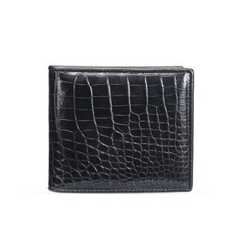 Luxury brand crocodile leather wallet men's short belly horizontal zero Mini Billeteras delgada purses European style Hot sale