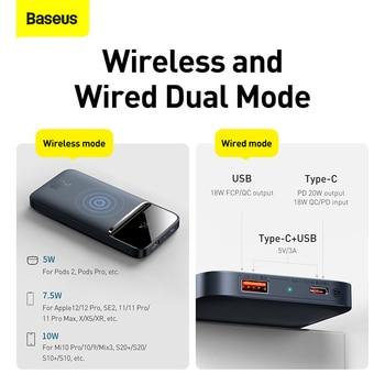 Внешний аккумулятор Baseus, 20 Вт, 10000 мАч 3