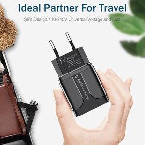 Image 2 - Cargador USB de carga rápida QC3.0, cargador Universal para teléfono móvil, adaptador de pared para iPhone, Samsung, HUAWEI, QC 3,0