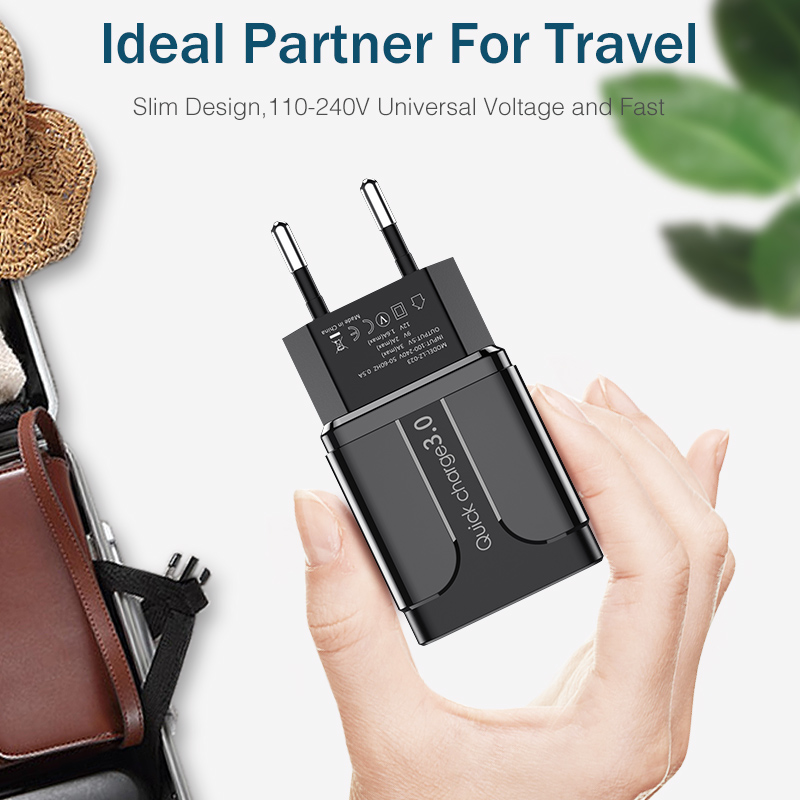 Image 5 - YKZ USB Charger Quick Charge QC3.0 Universal  mobile phone chargeing Wall USB Charger Adapter for iPhone Samsung HUAWEI QC 3.0-in Mobile Phone Chargers from Cellphones & Telecommunications on AliExpress