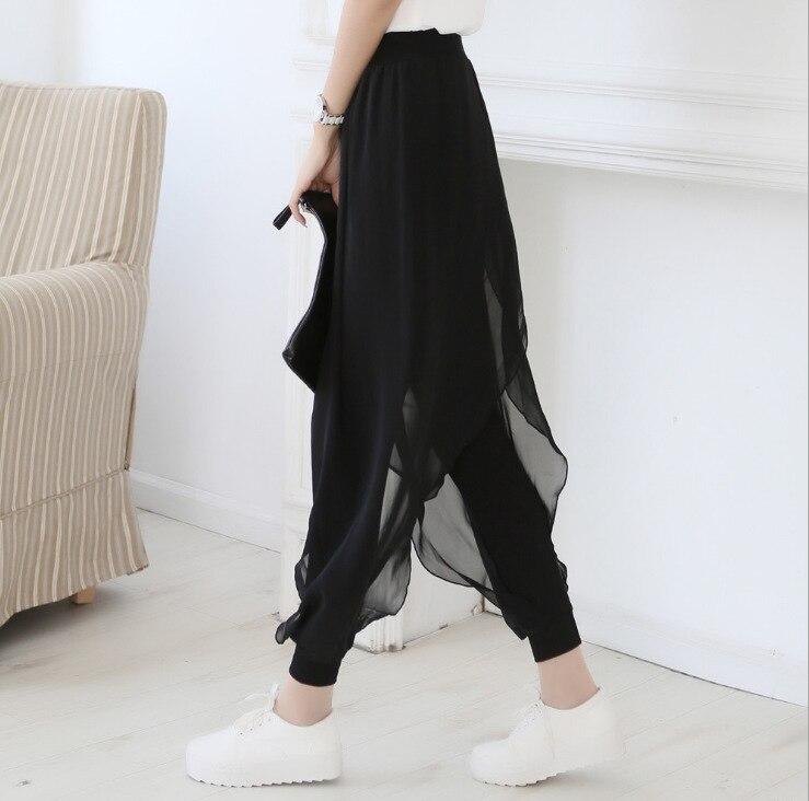 Fat Mm Harem Pants Women's 2019 Spring And Summer Thin Chiffon Divided Skirt Loose Casual Skinny Yoga Leggings Women's