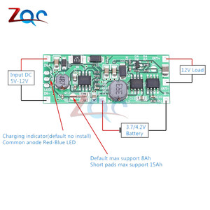 DC 5 -12V to 9V/12V Charging Step Up Booster Module for 18650 Lithium Battery UPS Voltage Protection Converter Charge Discharge(China)
