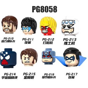 PG8058 Figures Heads Mysterio Nick Furry Hydro Man Prowler Miles Movie Series Bricks Far From Home Hero Building Toys For Kids image