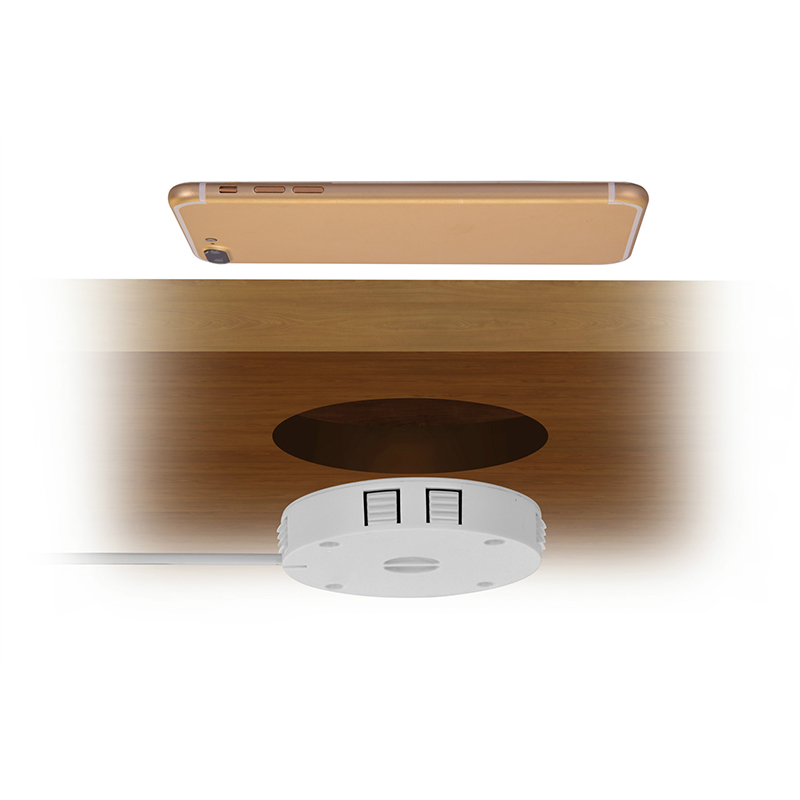 QI Invisible Wireless Charger Table Charging Pad Furniture Table Embedded For IPhone11 Xiaomi Easy Installation Super Long Cable 3