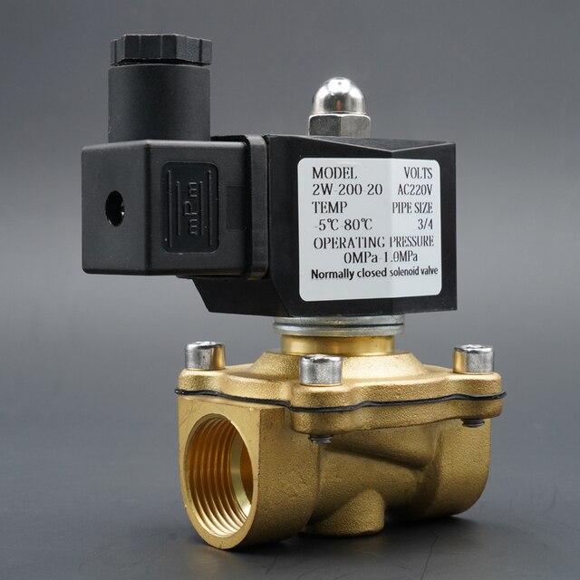 """الملف اللولبي صمام المياه عادة إغلاق صمامات النحاس 220V12V24V الهواء صمام الملف اللولبي الغاز المياه 1/4 """"3/8"""" 1/2 """"3/4"""" 1 """"2"""""""