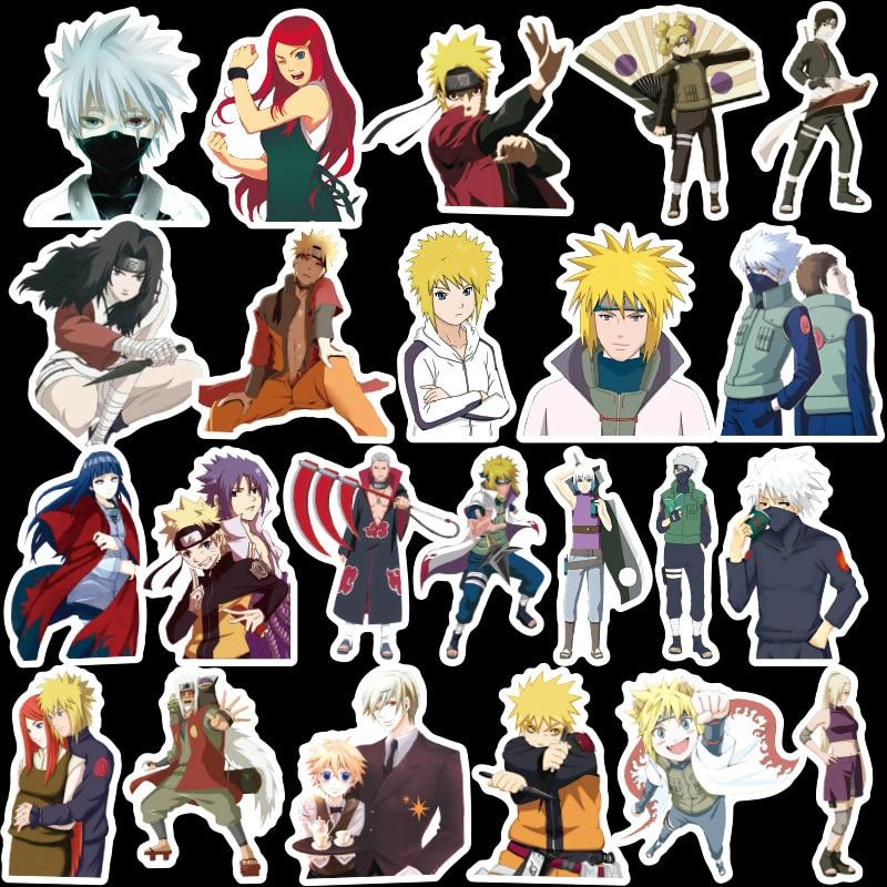 100PCS Cartoon Anime NARUTO Waterproof Kids Stickers Skateboard Suitcase Guitar Graffiti DIY Sticker Children Classic Toys