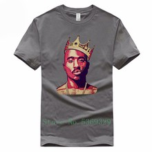 Tupac Men 2pac Short Sleeve Euro Size Streetwear T-Shirt Casual 100% Cotton Tshirt For Men O-Neck(China)
