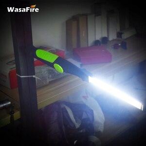 Image 4 - 5pcs/lot Magnetic Led Light USB Rechargeable COB Torch Multifunction Flashlight Work Lamp COB LED Hand Light For Car Repairing