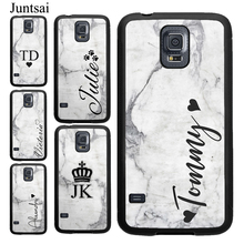 Personalised Name Initial Marble Case For Samsung