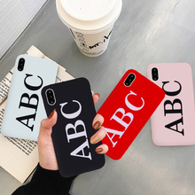 GYKZ Luxury Letter Print Phone Case For iPhone XS MAX X XR 7 8 6 6s Plus Fashion Trend Black Red Silicone Soft Back Cover Fundas