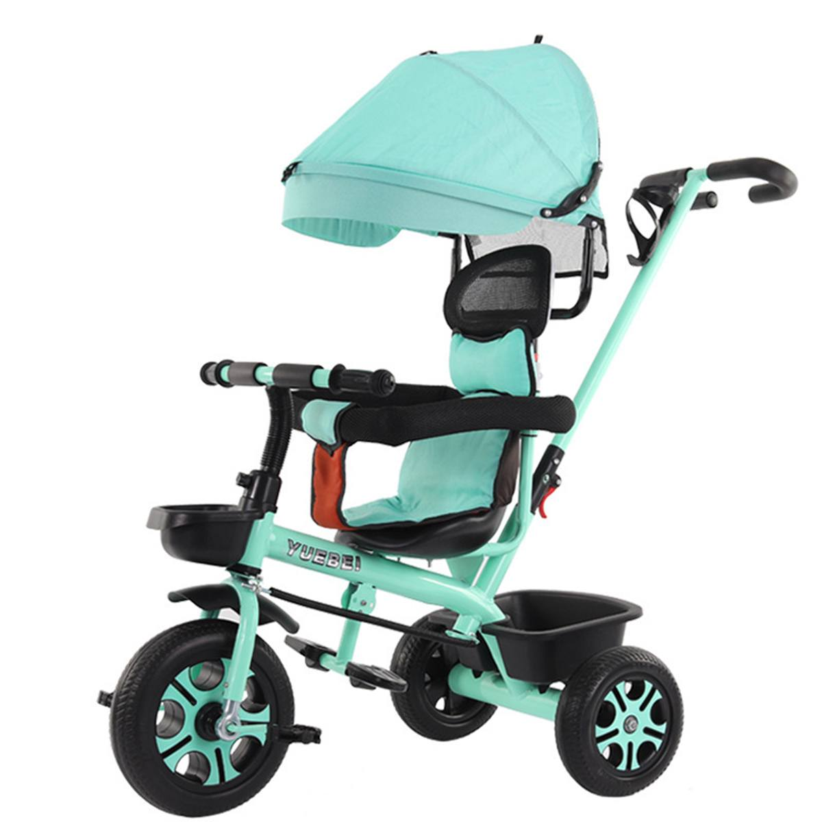 4 In 1 Infant Tricycle Folding Rotating Seat Baby Stroller 3 Wheel Bicycle Kids Bike Three Wheel Stroller Toddler Baby Trolley