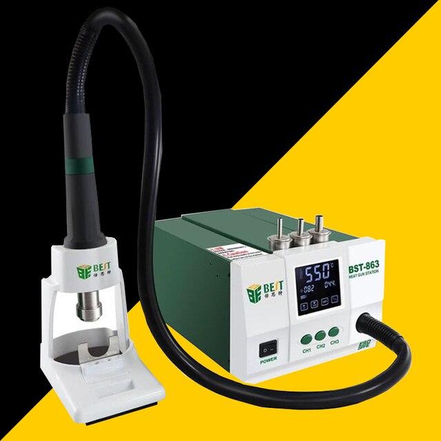 الرصاص قابل للتعديل الهواء الساخن أفضل 863 محطة إعادة العمل لحام اللمس شاشة LCD 1200 W 220 V للهاتف CPU PCB