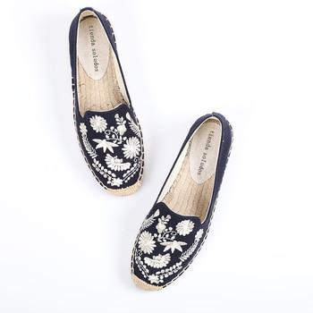 Venta directa, limitada, cáñamo, punta redonda, informal, tela de algodón, Lolita, zapatos de plataforma, zapatos de mujer