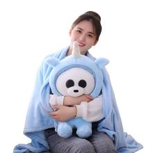1Pcs 60cm Soft Kawaii Panda Becomes Unicorn Plush Toys Stuffed Cute Unicornio Lovely Animal Gift for Kids Baby Doll