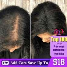 Tupé para mujer, cabello humano brasileño virgen 100%, Clip Ins 2,5x4 pulgadas, Dolago, 1 pieza, Color Natural, extensión de volumen 130%