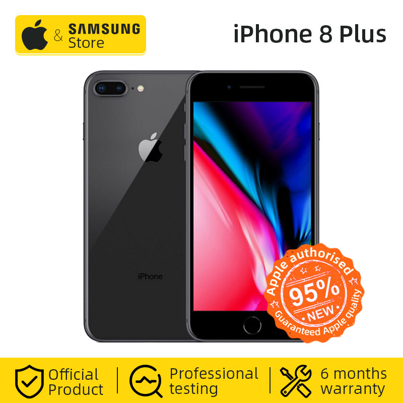 Original Apple Iphone 8 Plus Hexa Core IOS 3GB RAM 64GB ROM 5.5 Inch 12MP Fingerprint LTE Mobile Phone