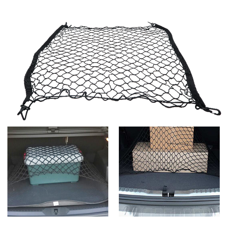 Car Boot Trunk Net Car styling Boot String Mesh Elastic Nylon net Rear Cargo Trunk Storage Organizer Luggage Net Car Accessories image