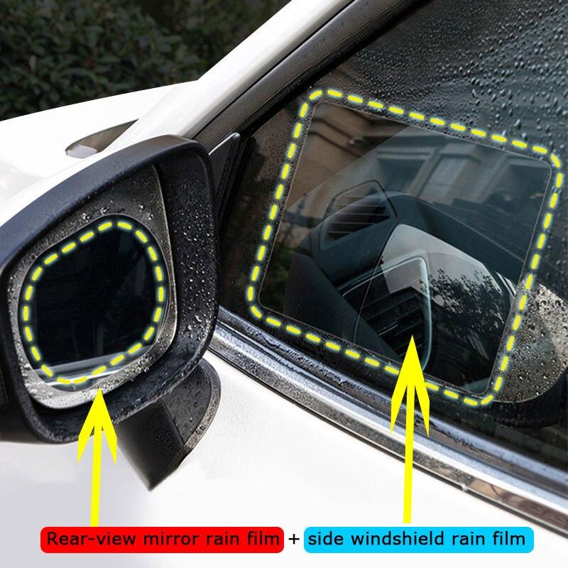 Film For Cars Car Rearview Mirror Film Anti-glare Rain Anti-fog Reflector Nano Films Flooding Hydrophobic For Mirror High Beam