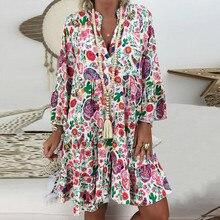 2020 Summer Fashion Plus Size 5XL Dresses Boho Beach Women F