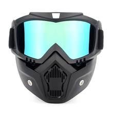 Óculos off-road para capacete de motocicleta, óculos à prova de vento, máscara, óculos de proteção para esqui