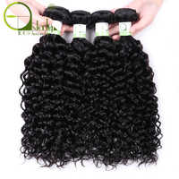 Extensiones con ondas al agua Sterly pelo humano extensiones de pelo ondulado brasileño extensión de pelo Remy 1/3/4 paquetes para mujeres negras