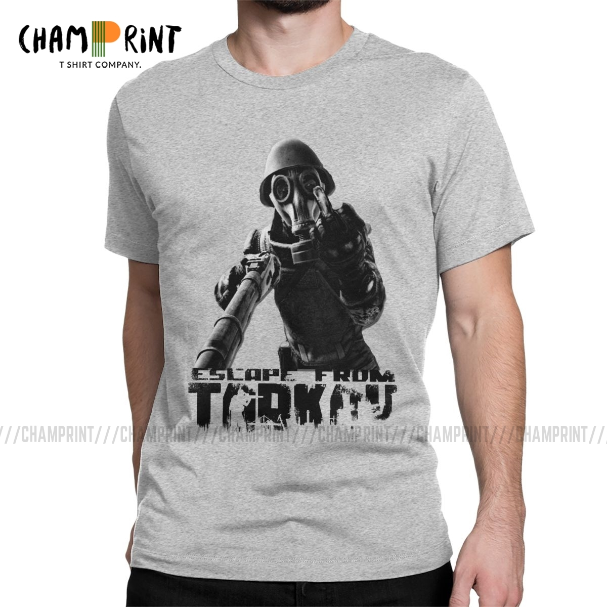 Escape From Tarkov This Is For You T Shirt Men's Novelty T-Shirts Survival Shooter Game Tee Shirt Short Sleeve Tops 4XL 5XL 6XL