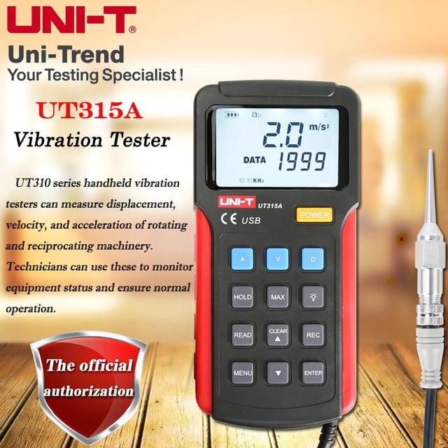 UNI T UT315A Handheld Trillingen Testers; Hoge Precisie Vibrometer Motor Trillingen Detector Draagbare/Usb Communicatie